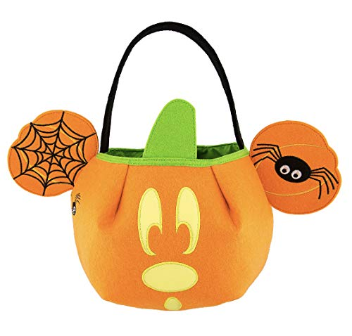 DisneyParks Mickey Mouse Fabric Pumpkin Trick or Treat Halloween Candy -