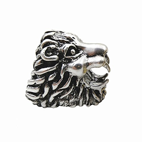 - TOOGOO Lion Design Cigarette Holder Rack Finger Ring Cigarette Smoking Accessories-Silver