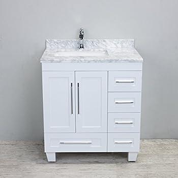 Eviva Acclaim Caroline Inch White Bathroom Vanity Set With Off