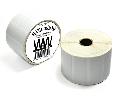 "High Quality FBA Thermal Label Rolls for Thermal printer-Self Adhesive and Removable Amazon FBA FNSKU Labels - 1"" x 2-5/8"" -compatible with Zebra and Neatoscan -Same size as 30-up Avery 5160 stickers"