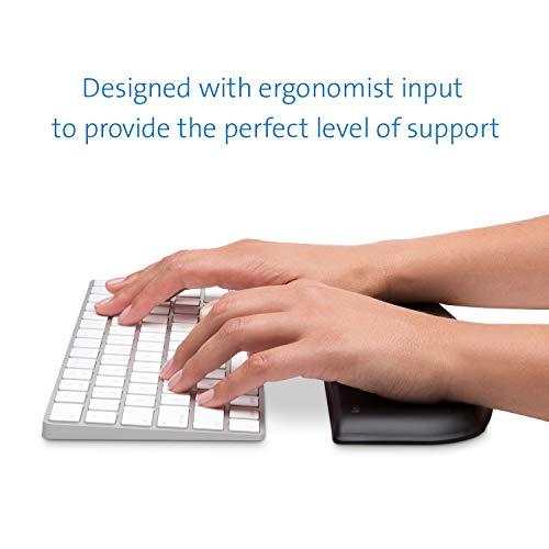 Kensington ErgoSoft Wrist Rest for Slim, Compact Keyboards, Black (K52801WW)