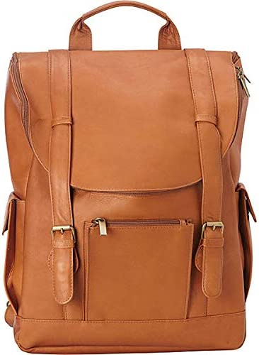 Le Donne Leather LD-044-TAN Classic Laptop Backpack, Tan
