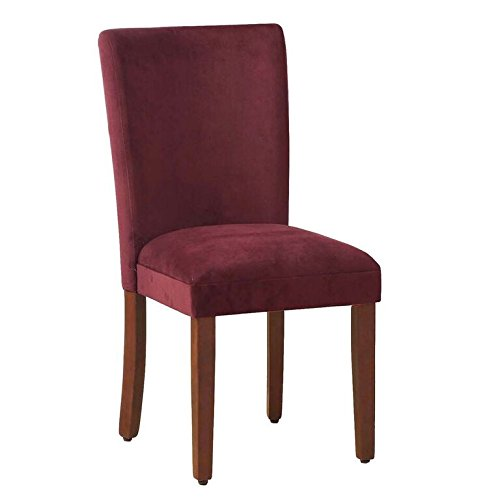 Kinfine Parsons Upholstered Accent Dining Chair, Set of 2, Merlot Velvet (Ottoman With Chair Upholstered)