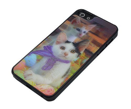 Xcessor Katzen 3D Holografische Hard Kunststoff Case für Apple iPhone SE / 5 / 5S
