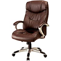 HOMES: Inside + Out IDF-FC653 Herbert Office Chair, Brown