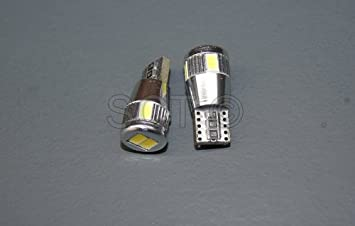 SCT - 2 Bombillas led coche canbus t10 w5w 6 smd 5630 , color blanco: Amazon.es: Coche y moto