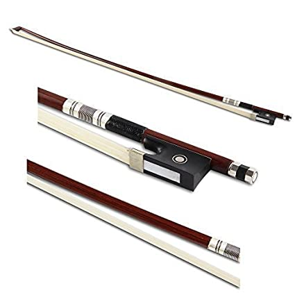Crescent 4/4 Full Size Well Balanced Round Brazil Wood Mongolian Horsehair Violin Bow VB44