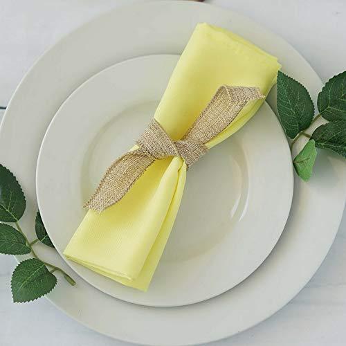 Mikash 75 pcs 17 Polyester Napkins Wedding Table Top Supply Wholesale Decorations | Model WDDNGDCRTN - 17068 -