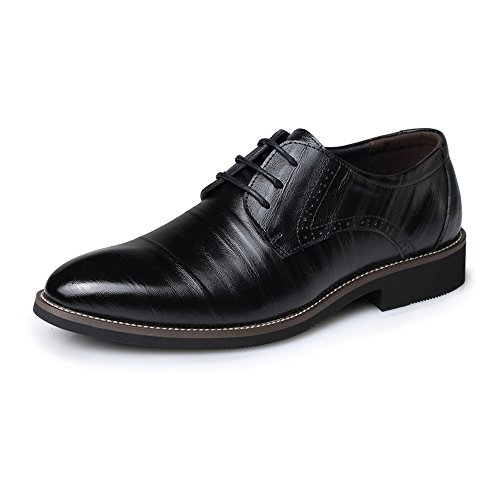 Noir 11MUS Chaussures Hommes Hommes Chaussures en Cuir PU Chaussures à Lacets Slamp Vamp Mocassins Doublé Tuxedo Oxford Richelieus Noir Talon De Mode Pantoufle Affaires