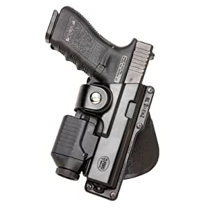 Fobus GLT17 Tactical Paddle Holster, Fits Glock 17,22,31 with Rail Mounted Laser or Light, Right Hand