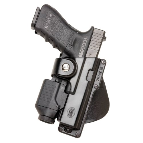 Fobus GLT17 Tactical Paddle Holster, Fits Glock 17,22,31 with Rail Mounted Laser or Light, Right Hand]()