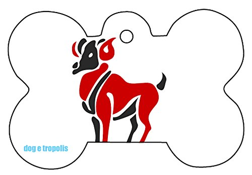 Ooki® Zodiac Sign Horoscope Dog Pet Cat ID Tag Custom Picture Image Personalized Key Ring (Aries)