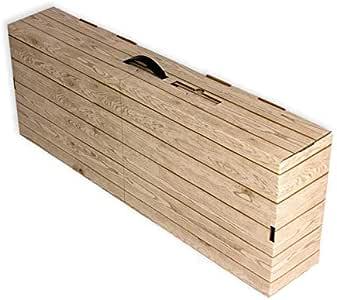 20 Cajas de cartón para jamones. Imitación caja madera: Amazon.es: Oficina y papelería