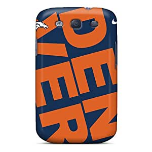 Ideal RareCases Case Cover For Galaxy S3(denver Broncos Tilted), Protective Stylish Case