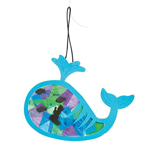 Tissue Paper Jonah & the Whale Ornament Craft Kit ()