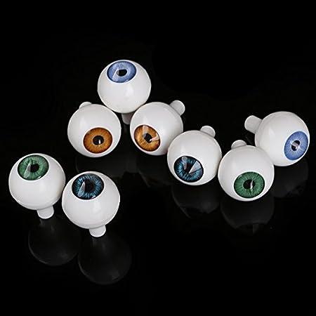 8Pcs 26mm Round Puppet Eyes DIY Making Art Craft Halloween Props Dollhouse