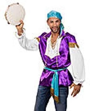 Nuevo hombre-para disfraz de gitana, colour morado, Gr, 50-52 ...