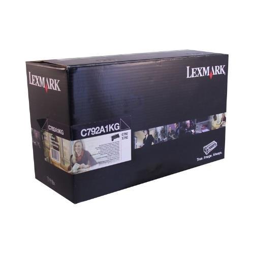 Lexmark C792A1KG Black Return Program Toner Cartridge for Lexmark C792de 792dhe 792dte 792e; X792de 792dte 792dtfe 792dtme 792dtpe -