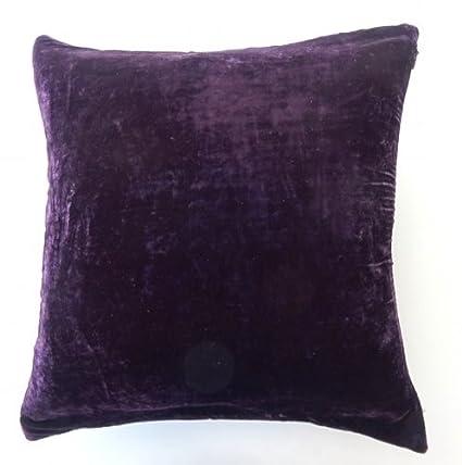 Amazon 40 X 40 Solid Polyester Velvet Decorative Pillow Cover Gorgeous Eggplant Decorative Pillows