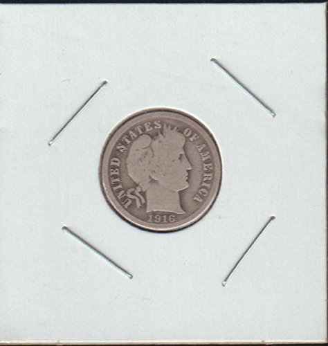 1916 S Barber or Liberty Head (1892-1916) Dime Fine