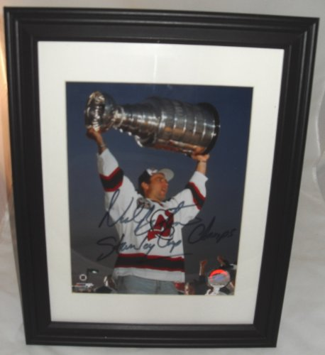 "Neal Broten New Jersey Devils ""Stanley Cup Champs"" Framed Autographed Signed 8 x 10 Photo COA!"