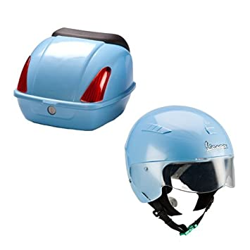 itsImagical Vespa Safety Helmet & Rear Box, casco y portaequipaje para vespa (Imaginarium 60321