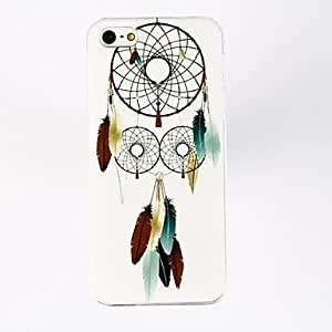 YXF Feather Earring Pattern Polycarbonate Hard Cases for iPhone 4/4S , Multicolor