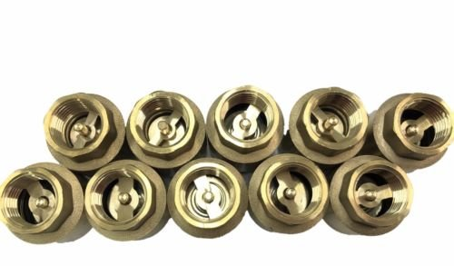 10 pcs of 3//4 Brass In-Line Spring Check Valve 200 WOG KLIM