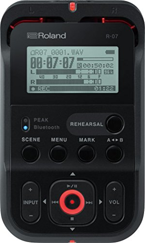 (Roland High-Resolution Handheld Audio Recorder, black (R-07-BK))