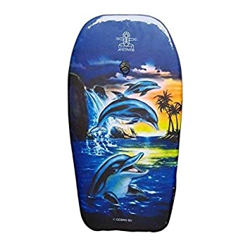 lively moments Bodyboard Peces 82cm / Body Board / Tabla de Surf / Kickboard con 3