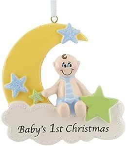 Ornamento de Natal do primeiro menino da lua de Natal da