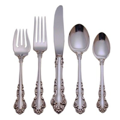 Reed & Barton Spanish Baroque Sterling Silver 5 Piece Place Setting