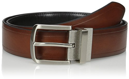picture of Tommy Hilfiger Men's Vachetta Casual Reversible Belt, Tan/Black, 42