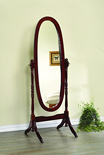 Dabny Cheval Oval Mirror Merlot ()