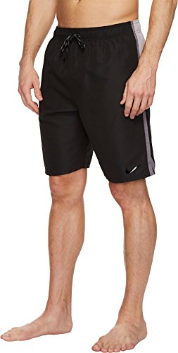 "NIKE NESS8401 Men's Solid Diverge 9"" Trunk, Black - X-Large"