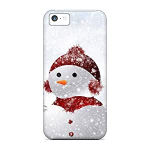 Durable Case For The Iphone 5c- Eco-friendly Retail Packaging(snowman)