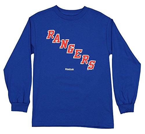 NHL Men's New York Rangers Jersey Crest Long Sleeve Shirt, Blue