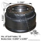 """151.5503BA, Brake Drum - 15""""x5"""", 3754X/61951B"""