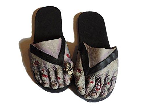Vuxen Latex Zombie Fötter Kostym Sandaler Stor