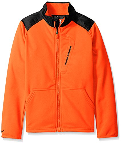 Under Armour Boys Extreme CG Jacket, Bolt Orange (810)/Black, Youth Small