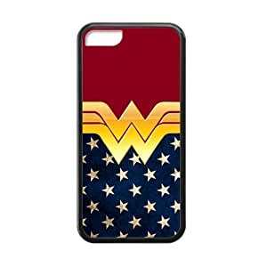Hipster Wonder Woman Apple Iphone 5C Case Cover TPU American Flag