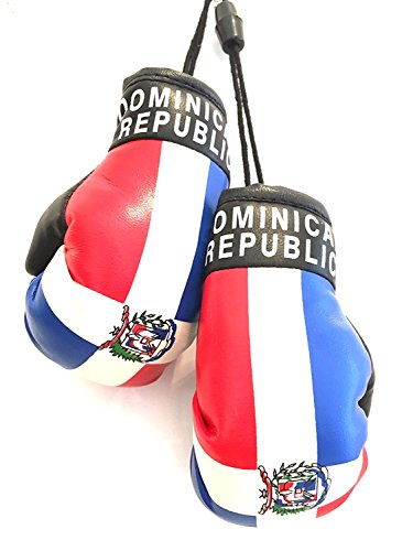 Dominican Republic, Santo Domingo flag, Boxing Gloves, Car ,SUV, trucks , automobile window Dominican flag boxing Gloves