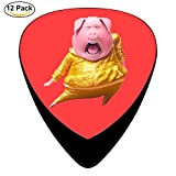 Dancing pig Guitar Picks Celluloid 12 Pack Complete Set ONE_SIZE