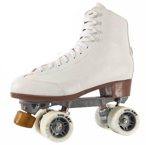 CRAZY スケート セレブリティアート クワッドローラースケート ホワイト