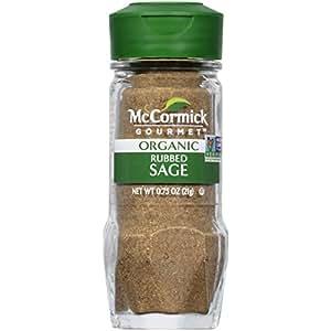 McCormick Gourmet Rubbed Organic Sage, 0.75 oz