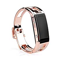 HYSJY® Hot New Fashion Men/women Bluetooth Smart Watch Smartband/ Bracelet/Smart Wristband with OLED Touch Screen for IOS Phone(Part function) Android Phone(Full function)(D8-Gold)