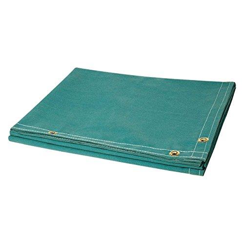 (Steiner 305-6X8 12-Ounce Flame Retardant Opaque Blue Canvas Duck Welding Curtain, Blue, 6' x 8')