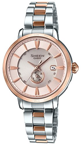 CASIO Ladies Watches SHEEN Voyage Series World six stations Solar radio SHW-1800SG-4AJF