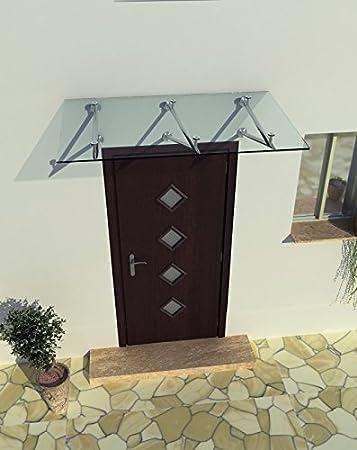 150 x 90 cm Glasvordach Vordach T/ürvordach T/ürdach Haust/ür Klarglas Glas Edelstahl VSG