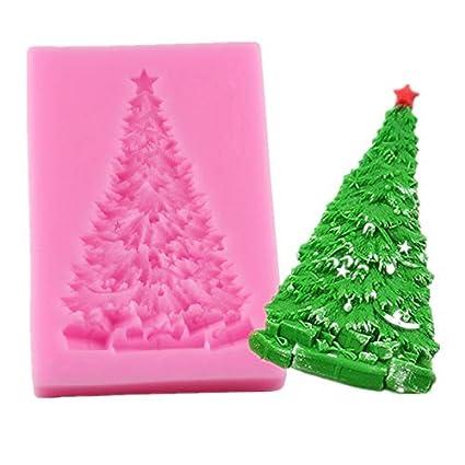 Christmas Tree House Silicone Mold DIY Baking Fondant Cake Chocolate Decoration